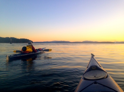 Evening paddle from Salt Spring Island