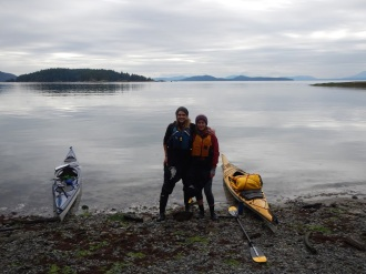 Ready to launch off from Decourcy Island, once of the Gulf Islands