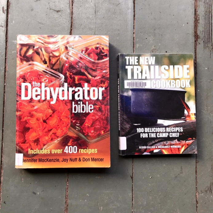 A couple of our new favourite dehydrating books from the library.